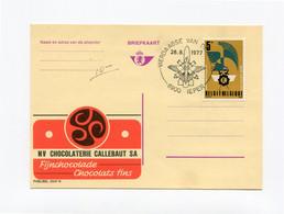 Kaart Nr 2547N CHOCOLATERIE CALLEBAUT  - Stempel VIERDAAGSE VAN DE IJZER - 8900 IEPER Op Zegel 5Fr - Publibels
