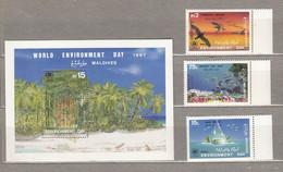 MALDIVE ISL Environment Day 1987 Mi 1074-1075 Block MNH (**) #21061 - Midway Islands