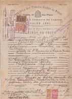 DOCUMENTO CONSOLARE OTALIANO IN BRASILE. CON MARCHE 1927 - Historical Documents