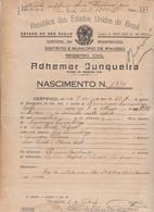 DOCUMENTO CONSOLARE OTALIANO IN BRASILE. CON MARCHE 1934 - Historical Documents