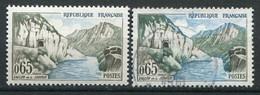 21011 FRANCE N°1239g**(Cérés) 65c. Vallée De La Sioule : Sans La Couleur Olive + Normal (non Fourni) 1960  TB - Variétés: 1960-69 Neufs
