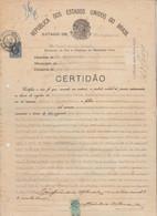 DOCUMENTO CONSOLARE ITALIANO IN BRASILE. CON MARCHE 1929 - Historical Documents