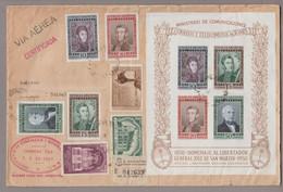 Argentinien 1950-09-12 Buenos Aires R-Brief Nach Thun CH Mit Block - Briefe U. Dokumente