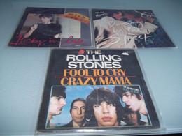 (5) .LOT DE 3  SP THE ROLLING STONES. - Rock