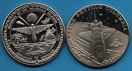 MARSHALL ISLANDS  5 Dollars 1991   KM# 37 Space Shuttle Columbia - Marshall Islands