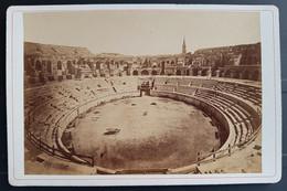 Photographie Ancienne Félix FESCOURT - Monuments Romains De NÎMES - Amphithéâtre Intérieur - 1870-75 - Alte (vor 1900)