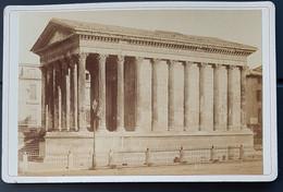 Photographie Ancienne Félix FESCOURT - Monuments Romains De NÎMES - MAISON CARREE - 1870-75 - Alte (vor 1900)