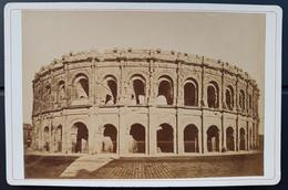 Photographie Ancienne Félix FESCOURT - Monuments Romains De NÎMES - Amphithéâtre Extérieur - 1870-75 - Alte (vor 1900)