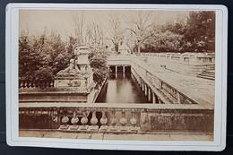Photographie Ancienne Félix FESCOURT - Monuments Romains De NÎMES - Le NYMPHOEUM - 1870-75 - Alte (vor 1900)