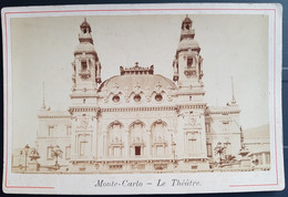 Photographie Ancienne Avt 1900 - MONTE-CARLO - Le Théâtre (format 11x16,5) - Alte (vor 1900)