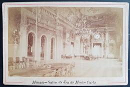 Photographie Ancienne Avt 1900 - MONTE-CARLO - Casino Salon De Jeu (format 11x16,5) - Alte (vor 1900)