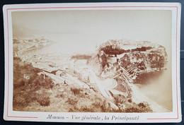 Photographie Ancienne Avt 1900 - MONACO - Vue Gale La Principauté (format 11x16,5) - Alte (vor 1900)