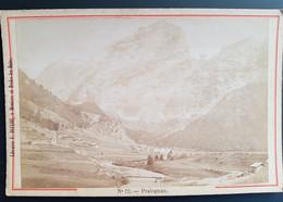 Photographie Ancienne Avt 1900 - PRALOGNAN - Vue Gale - Librairie F.Ducloz (format 11x16,5) - Alte (vor 1900)