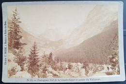 Photographie Ancienne Avt 1900 - PRALOGNAN - Col De La Gde CASSE Et Pte Du VALLONET - Librairie F.Ducloz (format 11x16,5 - Alte (vor 1900)