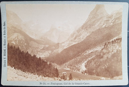 Photographie Ancienne Avt 1900 - PRALOGNAN - Col De La Gde CASSE - Librairie F.Ducloz (format 11x16,5) - Alte (vor 1900)
