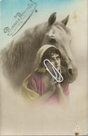 FANTASIE : Frau Mit Pferd -  Vrouw Met Paard - Femme A Cheval - Woman With Horse - - Horses