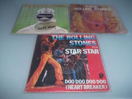 (6) .LOT DE 3  SP THE ROLLING STONES. - Rock