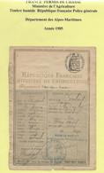 FISCAUX PERMIS DE CHASSE 1905 - Fiscale Zegels