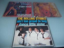 (7) .LOT DE 3  SP THE ROLLING STONES. - Rock