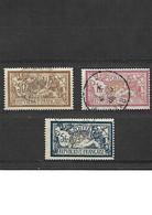 1733 LOT De 3 MERSON - 1900 - YT 120-121-123 Oblitérés - 1900-27 Merson