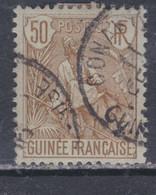 Guinée Française N° 28 O , Type Berger Pulas: 50 C. Bistre Sur Azuré  Oblitération Moyenne Sinon TB - Nuevos