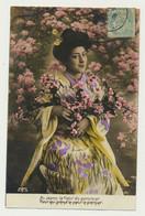 Carte Fantaisie - Femme - Japonaise - Au Japon La Fleur Du Pommier - Geisha - Women