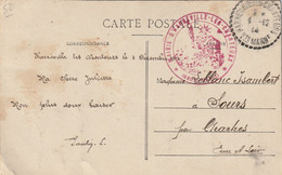 """CPA D'HARREVILLE-les-CHANTEURS (52) En FM. Cachet De La """" Mairie D'HARREVILLE-les-CHANTEURS """"(recto-verso) - WW I"""