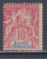 Guinée Française N° 14 X , Type Groupe, 10 C. Rouge,  Trace De Charnière, Sinon TB - Unused Stamps
