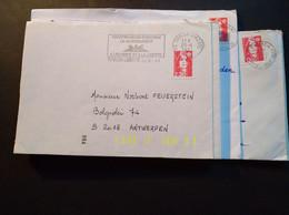 20 Enveloppes Et 12 Fragments Enveloppes, 26 Flammes Et 31 Cachets Visibles - 1989-96 Marianne Du Bicentenaire