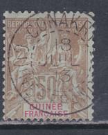 Guinée Française N° 17 O , Type Groupe, 50 C. Bistre Sur Azuré Assez Belle Oblitération, TB - Unused Stamps