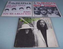 LOT DE 3  SP  THE BEATLES + J.LENNON. - Rock
