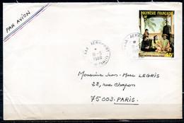 POLYNESIE. N°234 De 1985 Sur Enveloppe Ayant Circulé. Tahiti D'autrefois. - Briefe U. Dokumente