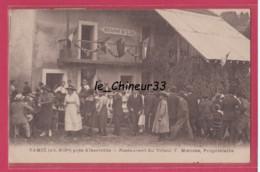 73 - TAMIE-- ( Pres Albertville ) Restaurant Du Tilleul F.Mingeon--Proprietaire --animé - Autres Communes