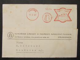 BRIEF Frankotype Postfreistempel Strakonice 1947  ///// F3877 - Cartas