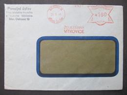 BRIEF Frankotype Postfreistempel Moravska Ostrava Vitkovice 1946  ///// F3879 - Cartas
