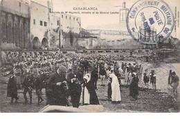 Maroc - N°68037 - CASABLANCA - Arrivée De Mr Regnault, Ministre Et Du Général Lyautey - Légion - Casablanca