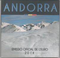 ANDORRA EUROS ESTUCHE CON LA SERIE COMPLETA 8 MONEDAS DEL AÑO 2014. - Andorra