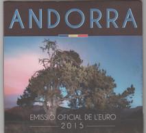 ANDORRA EUROS ESTUCHE CON LA SERIE COMPLETA 8 MONEDAS DEL AÑO 2015. - Andorra