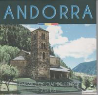 ANDORRA EUROS ESTUCHE CON LA SERIE COMPLETA 8 MONEDAS DEL AÑO 2018. - Andorra