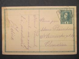 GANZSACHE Zdice - Chrudim 1917 Bahnhofstempel  ///// F3343 - Cartas