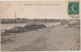 Péniche  à Orléans (45 - Loiret) La Loire . Le Port Et Le Pont - Embarcaciones