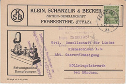 DR-Infla - 4 Mio. Korbdeckel Illustr. Firmenkarte München 29 - 24.10.23 N. - Cartas