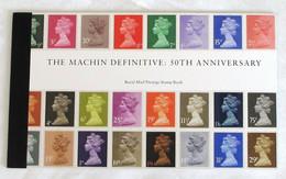GRAN BRETAGNA 2017 THE MACHIN DEFINITIVE 50TH ANNIVERSARY, ROYAL MAIL PRESTIGE, MNH, PUBLISHED 2017 RARE BOOKLET - Libretti