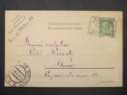 GANZSACHE Josefov - Brno 1907 Bahnhofstempel  ///// F3345 - Cartas
