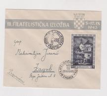 CROATIA WW II 1943 EXPO DOLAC Nice FDC Cover Hand And Machine Cancel - Croacia