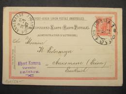 GANZSACHE Praha - Annemasse 1907  ///// F3341 - Cartas