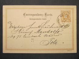 GANZSACHE Jindrichuv Hradec - Pola 1890 ///// F3347 - Cartas
