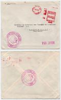 CONGO - BRAZZAVILLE / 1963 ARMEE CONGOLAISE EMA SUR LETTRE AVION ==> FRANCE (ref 3657a) - Otros