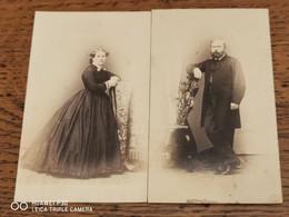 2 Cdv PENABERTa PARIS. New YORK. HABANA Couple De Gentleman - Alte (vor 1900)
