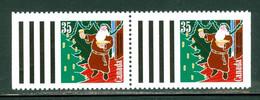 Père Noël / Santa Clauss; Se Tenant; Timbres Scott # 1342 Stamps; Trace De Charnière / Hinge (4614) - Nuevos